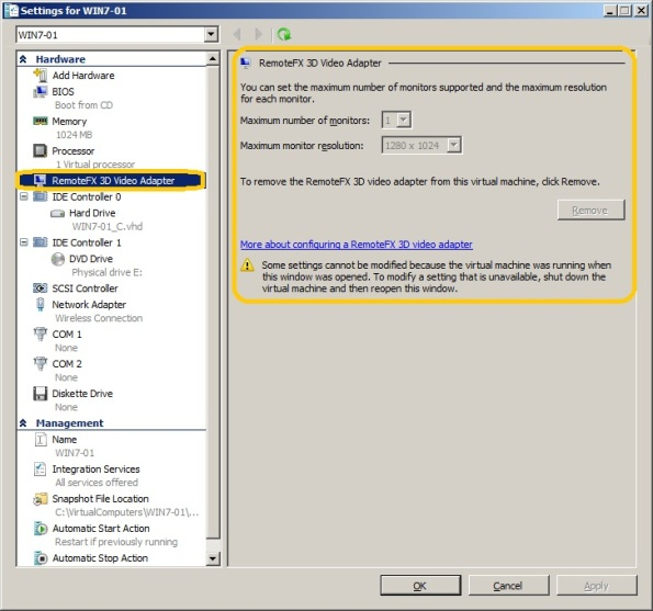 Windows 7 SP1: RemoteFX  Steps to provide the same user