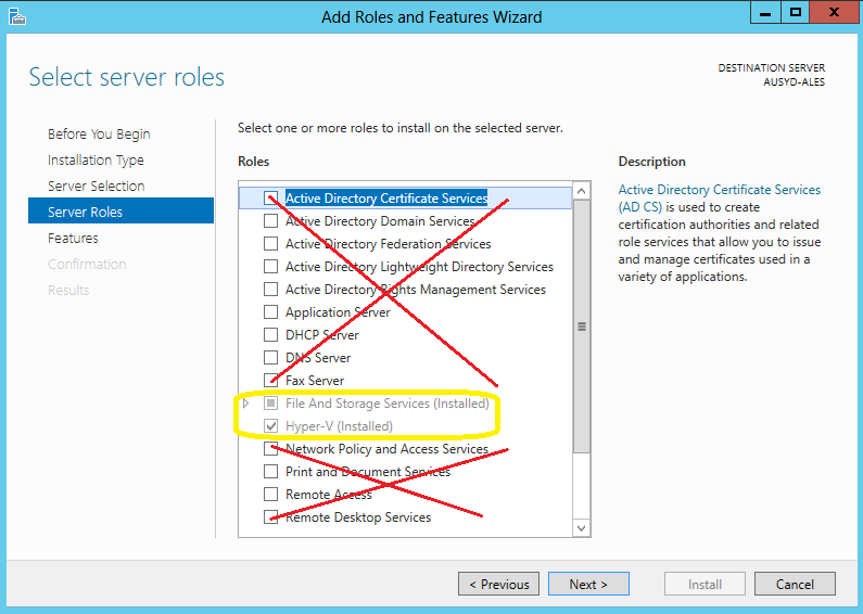 how to add hyper-v standalone to a domain