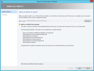 Import-Cloud-Advisor-Addin-into-VMM