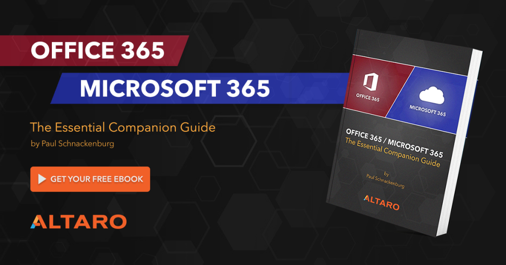 Want a chance to win one of three $20 Amazon vouchers? Download the free eBook  and leave a comment in this post with the what should be the topic of Altaro's next eBook?  Download the O365 ebook now!